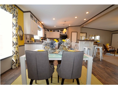 Large dining area just adjacent to the kitchen - The Benbrook KHT364F2 by Palm Harbor Homes