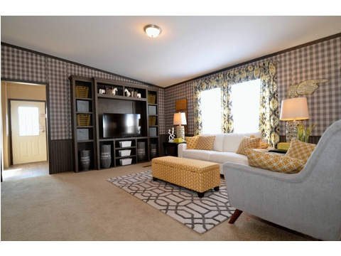 You can count on this built in entertainment system causing friends and relatives to randomly stop by right before kickoff of their favorite team :) - The Benbrook KHT364F2 by Palm Harbor Homes