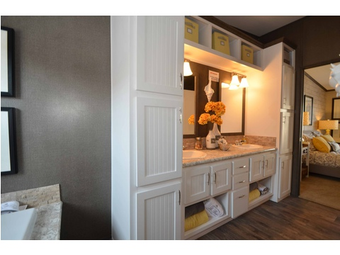 Huge master bathroom with dual vanity - The Benbrook KHT364F2 by Palm Harbor Homes