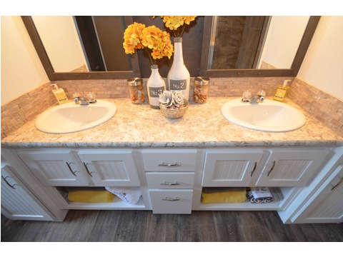 Simply an amazing master bathroom - The Benbrook KHT364F2 by Palm Harbor Homes