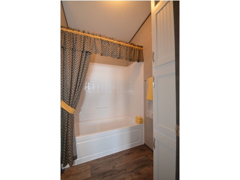 Shower in the guest bathroom - The Benbrook KHT364F2 by Palm Harbor Homes