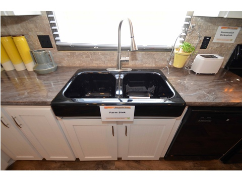 No matter what Palm Harbor home you fall in love with, be sure to ask about our beautiful farm sink option with an arched faucet.  This modern combo is perfect for cooking and for cleaning up afterwards here in our Benbrook model.