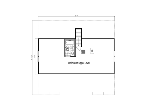 The Tryon - Unfinished Second Level Floor Plan - Square footage not included