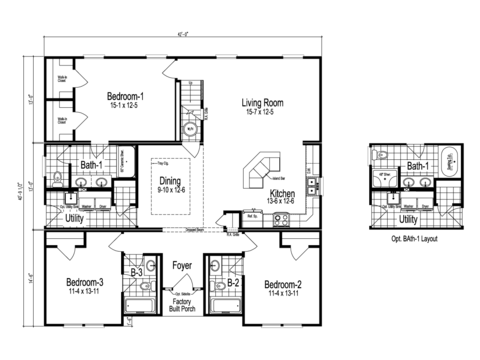>The Tryon - First Level Floor Plan