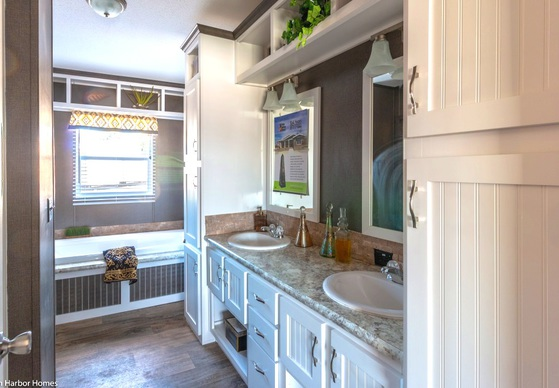 master bath white cabinets | Austin, Texas Home Photos ...