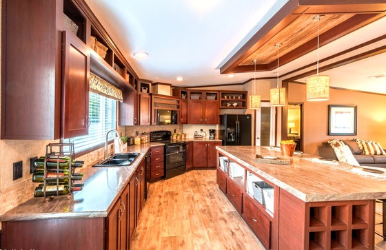 home run kitchen large cubby island
