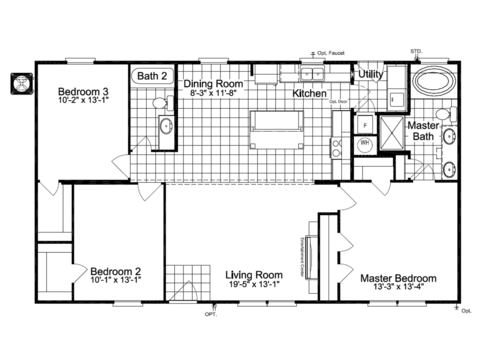 >The Action Jackson ML28483J standard 28' wide floor plan