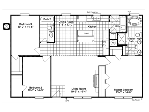 The Action Jackson ML30483J 30' wide floor plan
