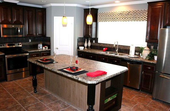 harbor house kitchen with island