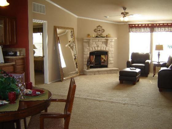 Huge Open Living Area with Fireplace!