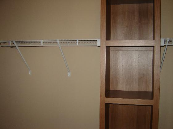 Large Closet with Built-in Shelf!
