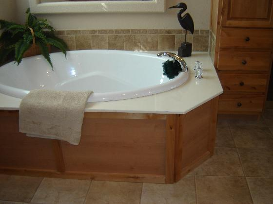 Relax in the Large Soaking Tub