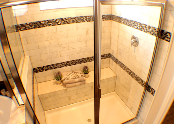 la belle serenity spa tiled bench shower