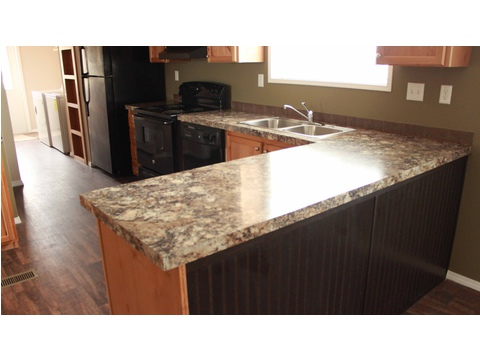 Wide spacious kitchen counters - The San Jacinto CSP352A3 by Palm Harbor Homes
