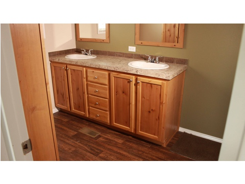 His and hers sinks in master bath - The San Jacinto CSP352A3 by Palm Harbor Homes