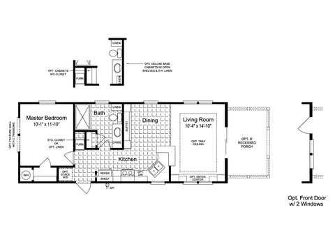 >The Sunset Cottage I 16401B Floor Plan