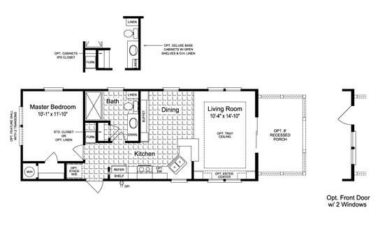 Floor Plan:The Sunset Cottage I 16401B Floor Plan
