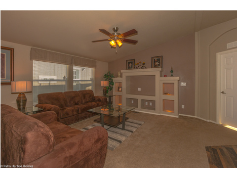 Living room - The Monterey I LCD2857A, Palm Harbor Homes