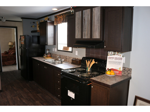 Plenty of cabinet and counter-top space