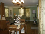 Dining area picture of The Denton home by manufactured/modular builder Palm Harbor Homes.