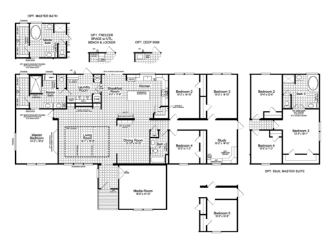 >Floor Plan - The Vintage Farmhouse II Flex FT47764A by Palm Harbor Homes
