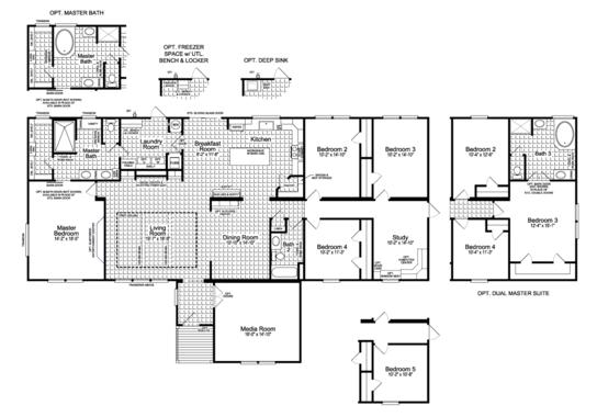 Floor Plan:Floor Plan - The Vintage Farmhouse II Flex FT47764A by Palm Harbor Homes
