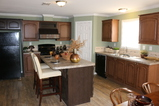 Large island kitchen - St Martin T4529D by Palm Harbor Homes