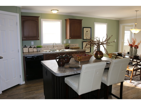 Eat-in island kitchen, lots of natural light - St Martin T4529D by Palm Harbor Homes