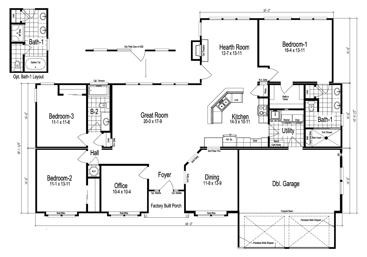 View the tuscany floor plan for a 2602 sq ft palm harbor Tuscan home floor plans