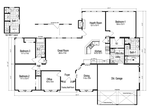 The Tuscany Manufactured Home Floor Plan Or Modular Floor