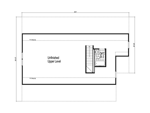 The Dalton -  UNFINISHED Second Level Floor Plan - Square footage not included