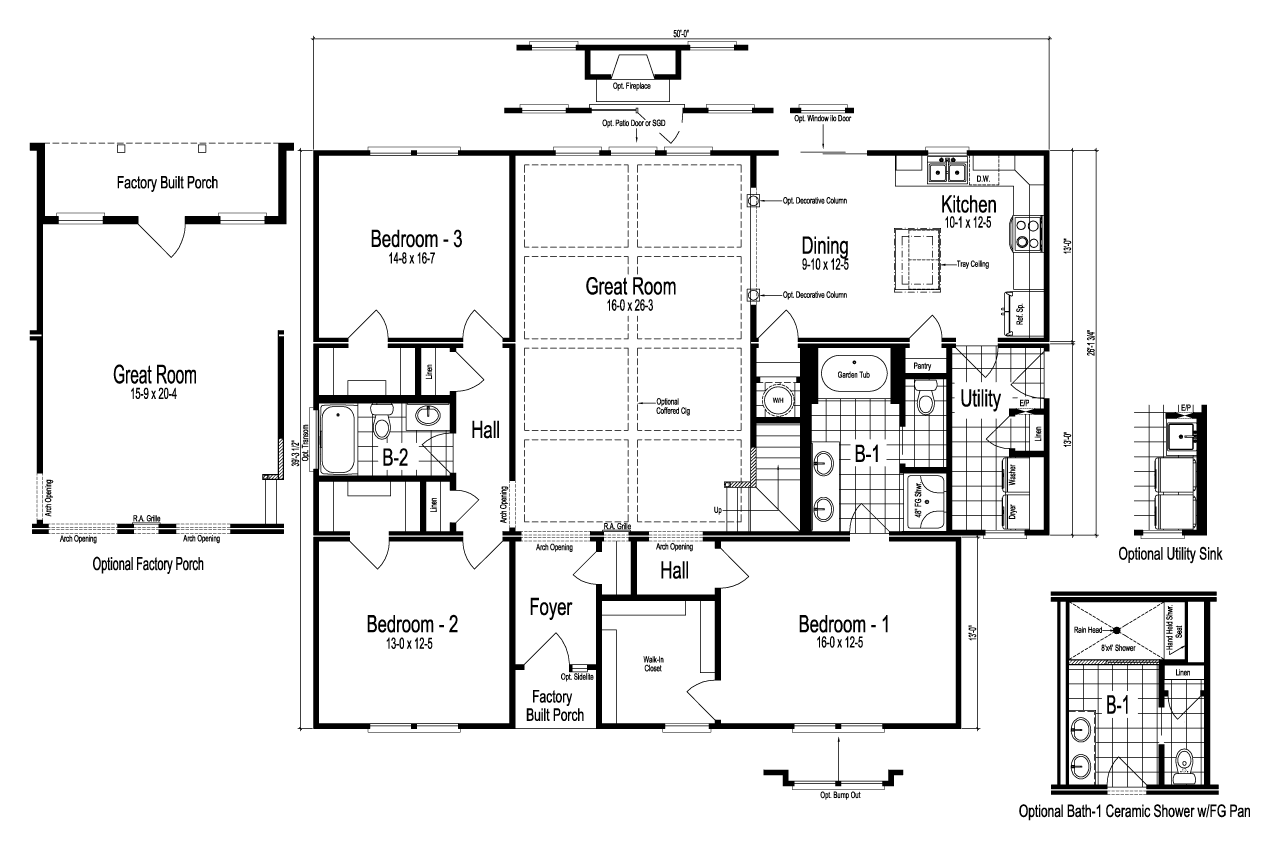 The dalton manufactured home floor plan or modular floor plans for Floorplan or floor plan