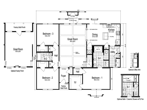 >The Dalton - First Level Floor Plan