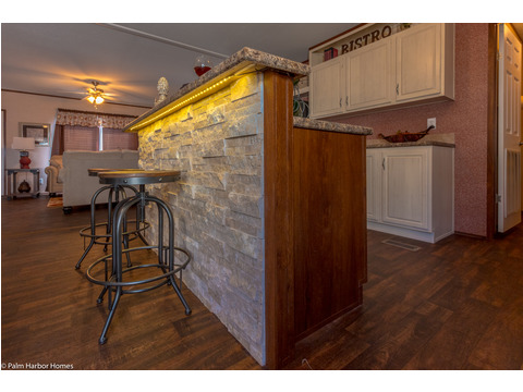 Raised snack bar over kitchen island - The Velocity 44 VE32443V
