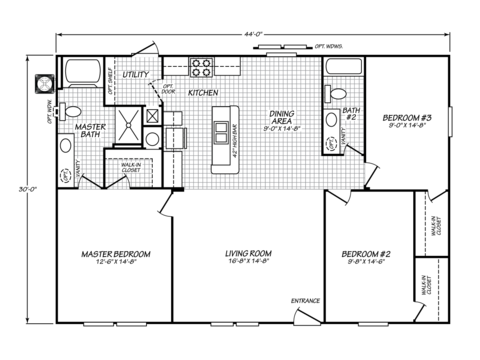 >Velocity Model VE32443V Floor Plan