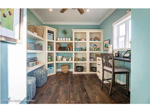 Welcome to the hobby room in the Estate Farmhouse LS30764A 3 Bedrooms, 2 Baths, 2,280 Sq. Ft. – By Palm Harbor Homes – Available in Florida ONLY – Not Alabama, Georgia or Mississippi.