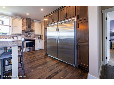 Get room for a sub-zero Fridge in the Estate Farmhouse LS30764A 3 Bedrooms, 2 Baths, 2,280 Sq. Ft. – By Palm Harbor Homes – Available in Florida ONLY – Not Alabama, Georgia or Mississippi.