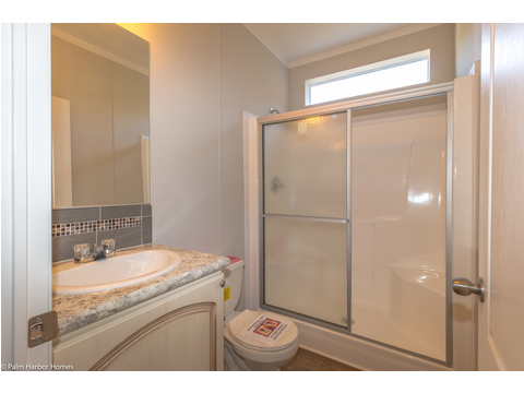No tiny shower in the Waverly LS15471A -1 Bedroom, 1 Bath, 555 Sq. Ft.  - built by Palm Harbor Homes in Plant City, Florida