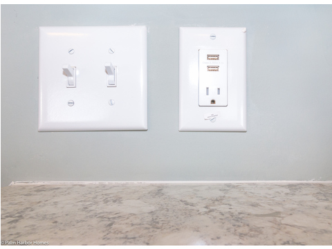 The Waverly delivers vintage beach comber charm with modern amenities like these USB ports for charging iPhones and more -  the Waverly LS15471A -1 Bedroom, 1 Bath, 555 Sq. Ft.