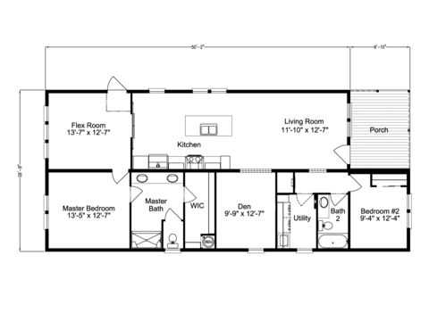 View Summer Cove III floor plan for a 1600 Sq Ft Palm Harbor ... on double master suite house plans, master bedroom with office floor plans, master bedroom addition plans, bedroom with two master suites house plans, 8 bedroom house plans,