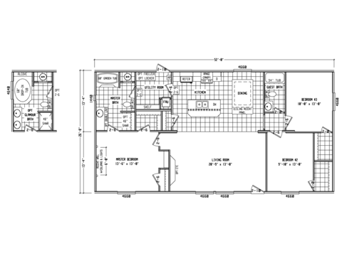 >Model PH28523A Floor Plan