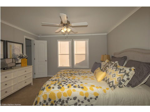 This bedroom is large enough to easily handle a full sized dresser in the Monet II model manufactured home with 3 Bedrooms, 2 Baths, 1,173 Sq. Ft.  - 26.8' x 44' - in Florida.