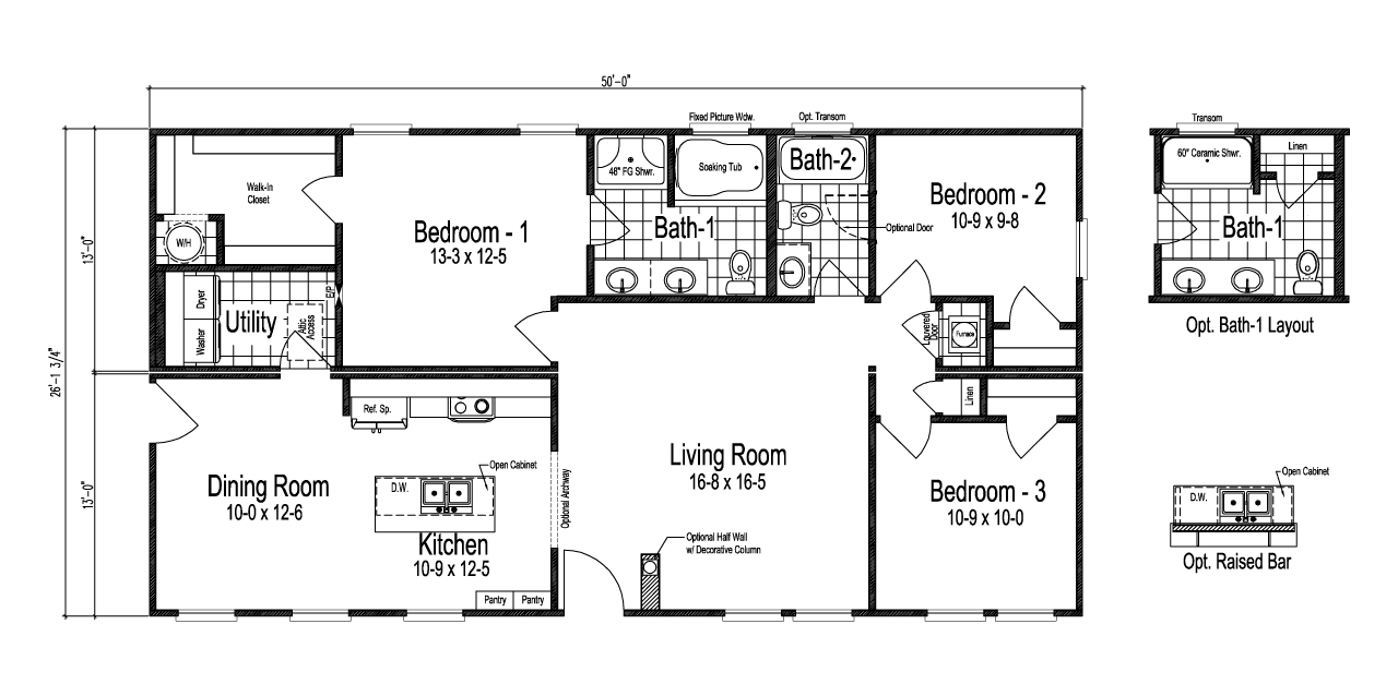 View The Prentis Floor Plan For A 1307 Sq Ft Palm Harbor