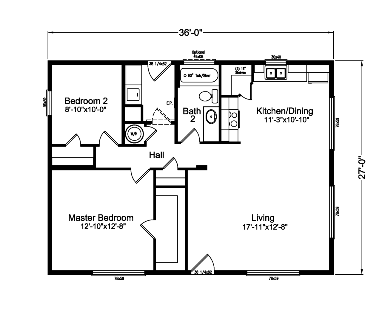 The d river 4g28362a manufactured home floor plan or for Mobile home plan