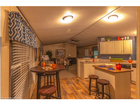 Kitchen and eating area in The Horseshoe Bay - 3 Bedrooms, 2 Baths, 1,292 Sq. Ft.