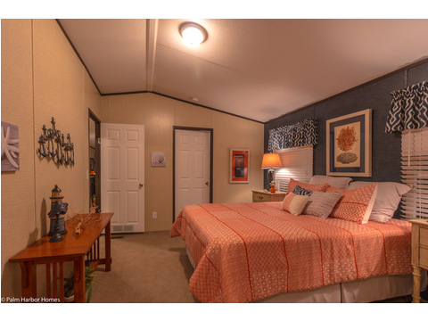 The master bedroom in The Horseshoe Bay - 3 Bedrooms, 2 Baths, 1,292 Sq. Ft.