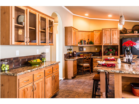 Another view of the fabulous kitchen in our Bonanza manufactured home by Palm Harbor Homes - 3 Bedrooms, 2 Baths, 1,984 Sq. Ft.  - double wide home
