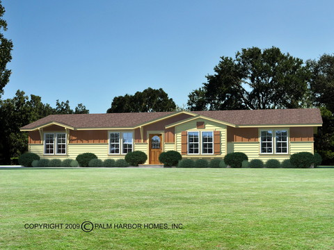 Optional Rancho Style Elevation, artist's rendering - The Bonanza SCTE64F1 by Palm Harbor Homes