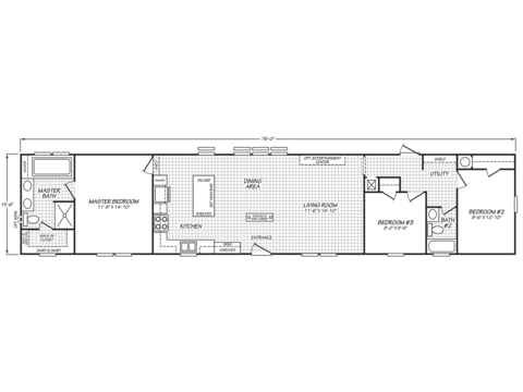 Model 16763m Manufactured Home Floor Plan Or Modular Floor Plans