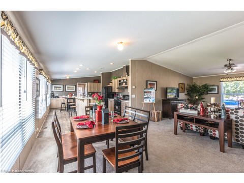 Ready for a sit-down dinner with the whole family? Not a problem in the Heritage III. Heritage Home III TLP360A5, 3 Bedrooms, 2 Baths, 1,640 Sq. Ft. - a manufactured home by Palm Harbor Homes.